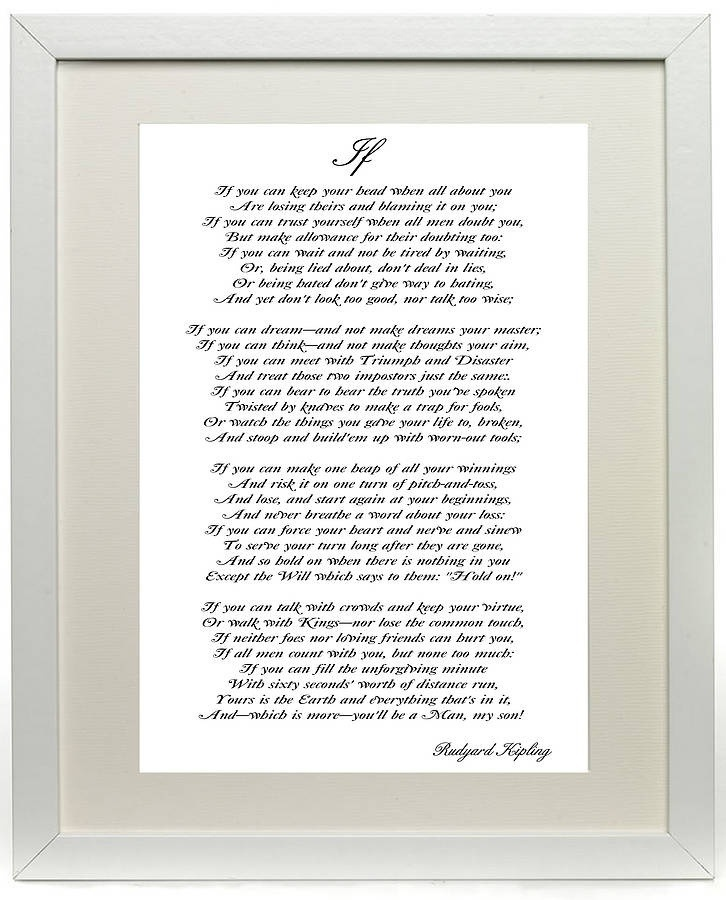 photo regarding If by Rudyard Kipling Printable identify poetry Trying to get ANSARS