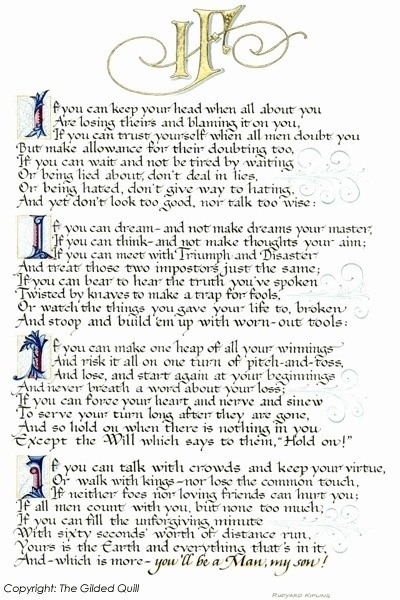 image about If by Rudyard Kipling Printable identify Rudyard Kipling In search of ANSARS